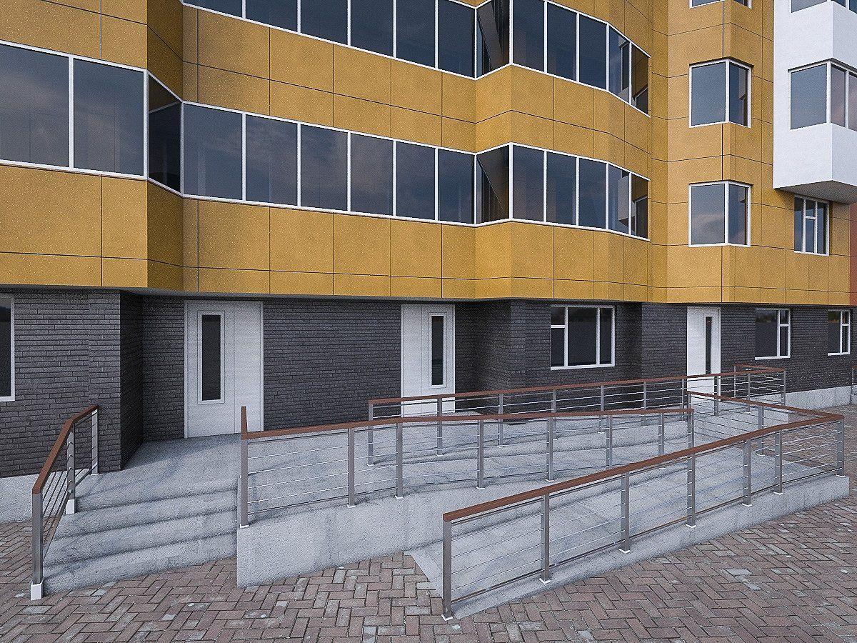 Apartment blocks set apartment building residential