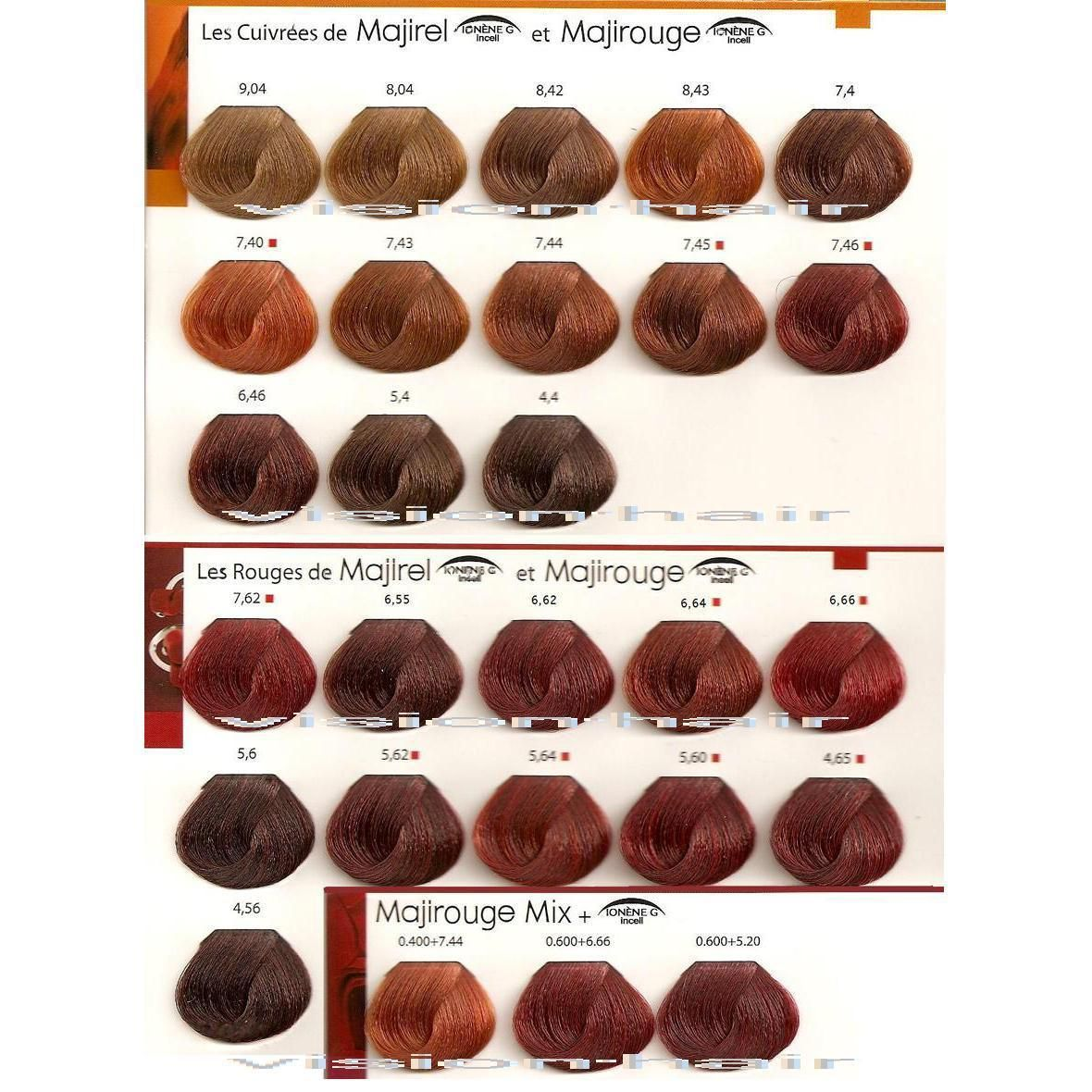 Majirel colour chart - How To Dye Hair Red Ginger