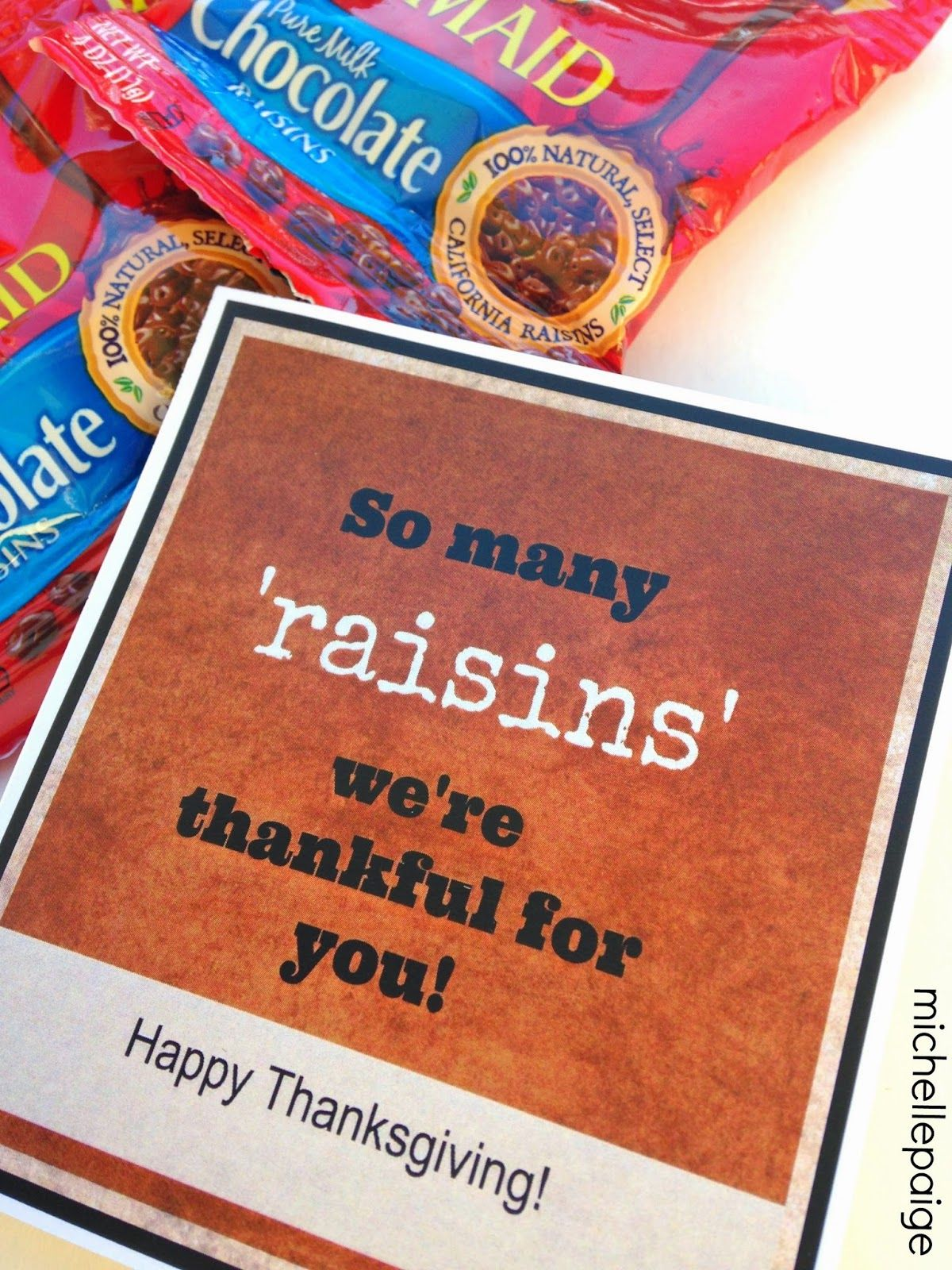 So Many Raisins We Re Thankful For You