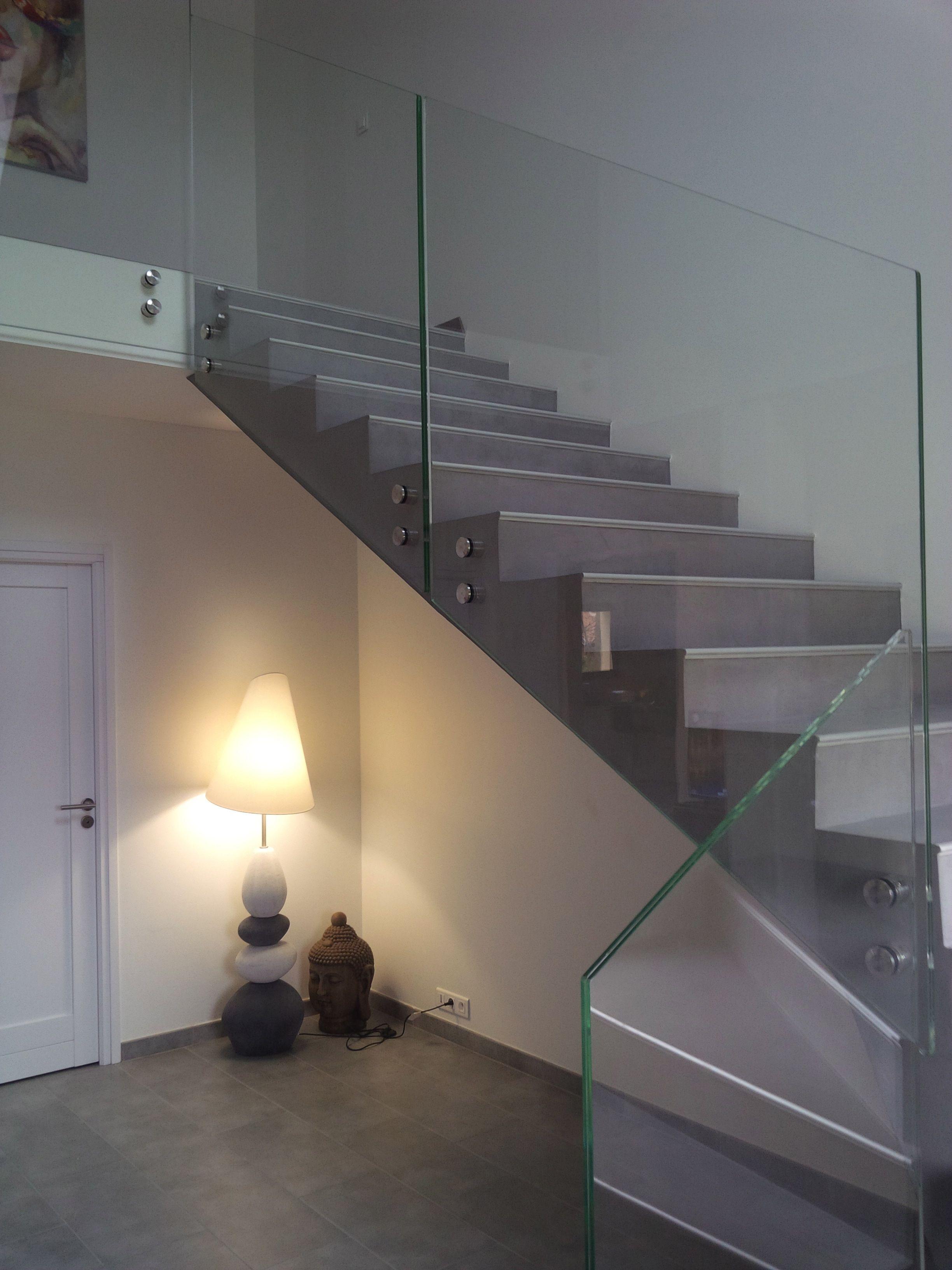 Escalier Interieur Beton Design garde-corps verre glassy | trescalini … | escalier