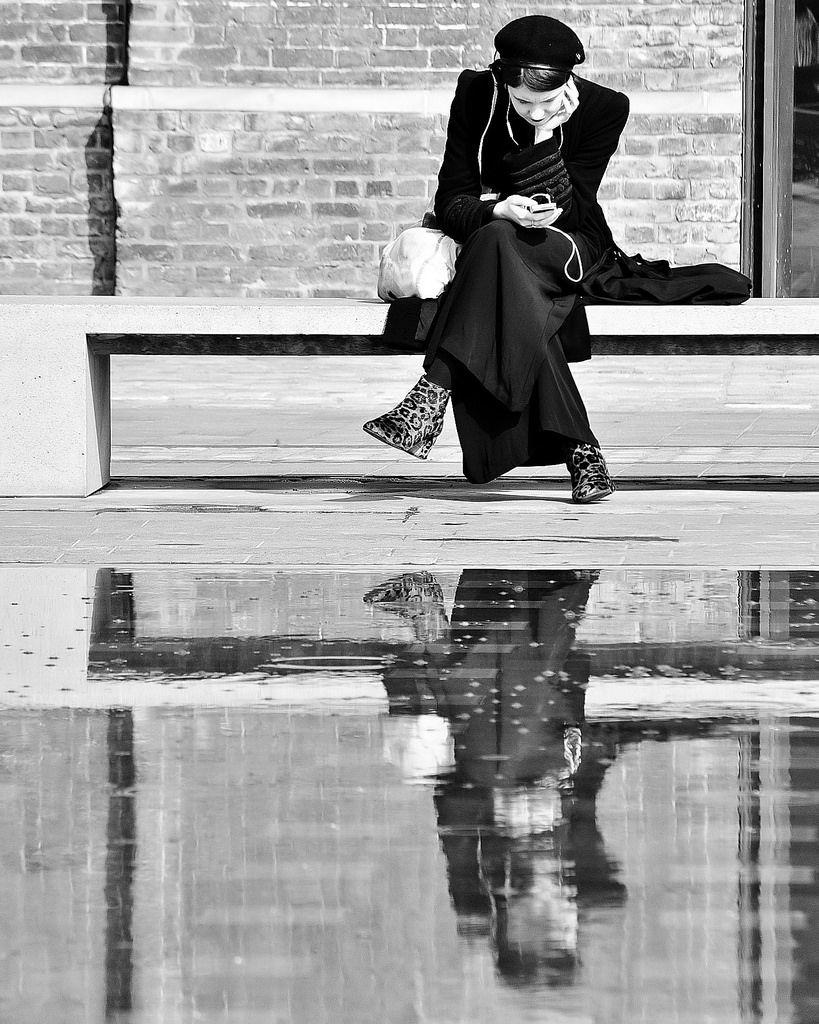 Quiet Reflection (Granary Square, London) - (by John Kortland)