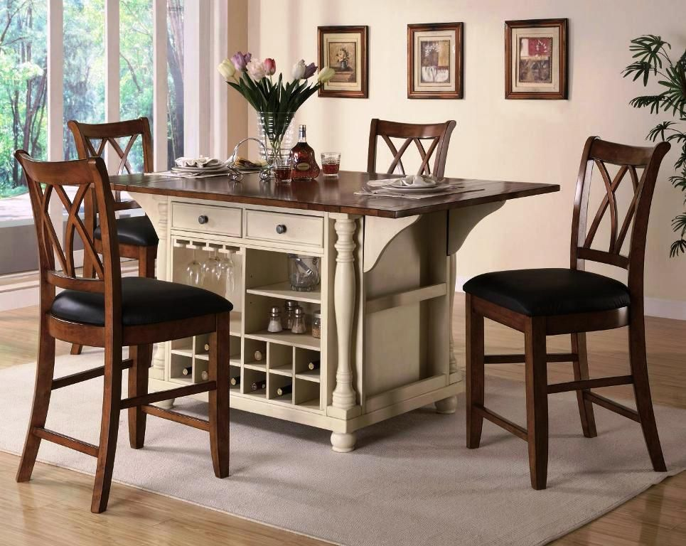 the round kitchen table with storage