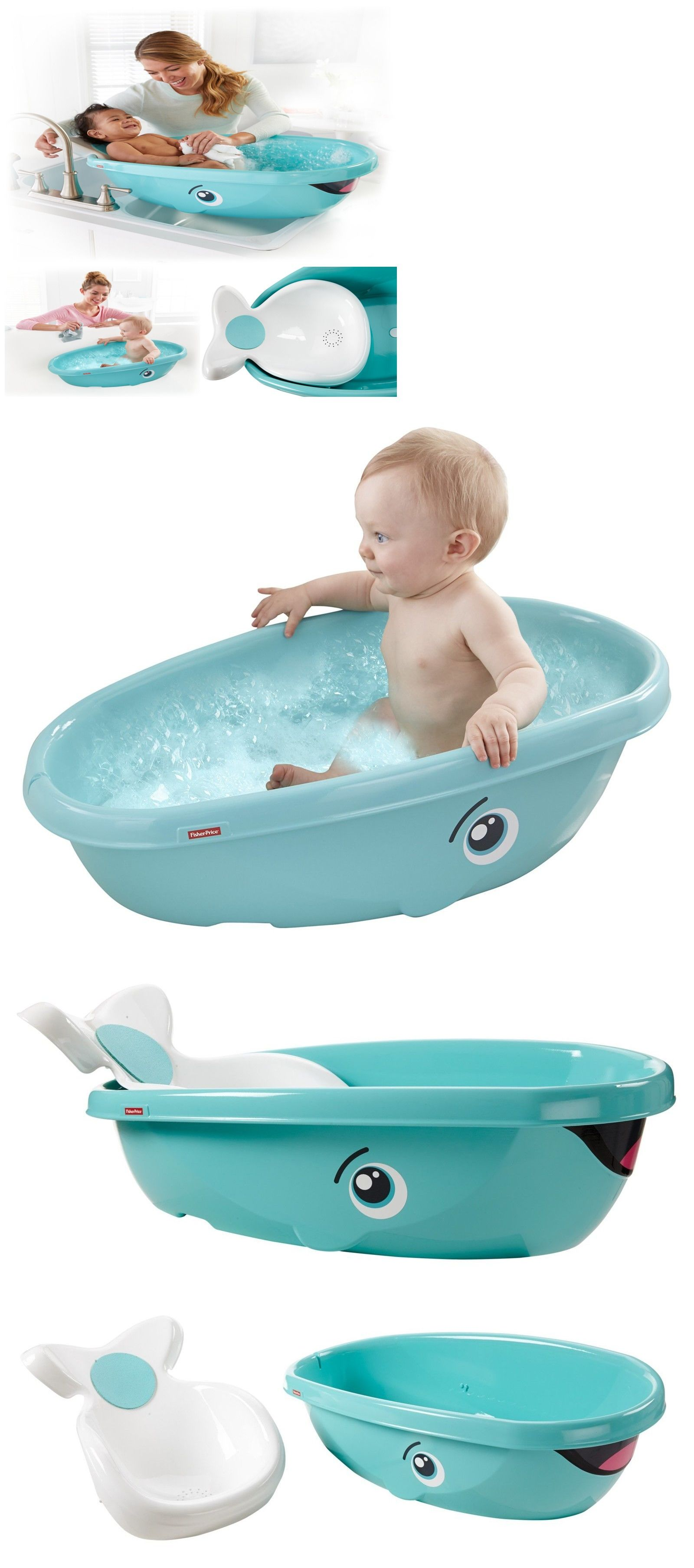 Baby Bathtub Whale Bath Tub Infant Newborn Bathing Shower Fisher Price |  MyKidSupplies