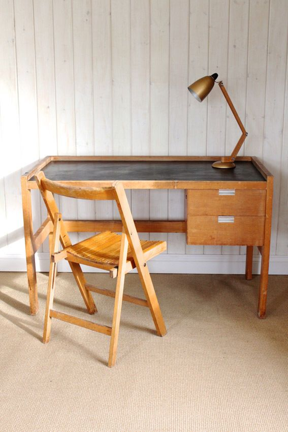 Vintage Industrial Beech Desk - Delivery Available in Antiques, Antique  Furniture, Desks | eBay - Vintage Industrial Beech Desk - Delivery Available In Antiques
