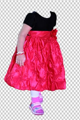 photoshop psd cute girl dress costume cutting for free psd bhavin