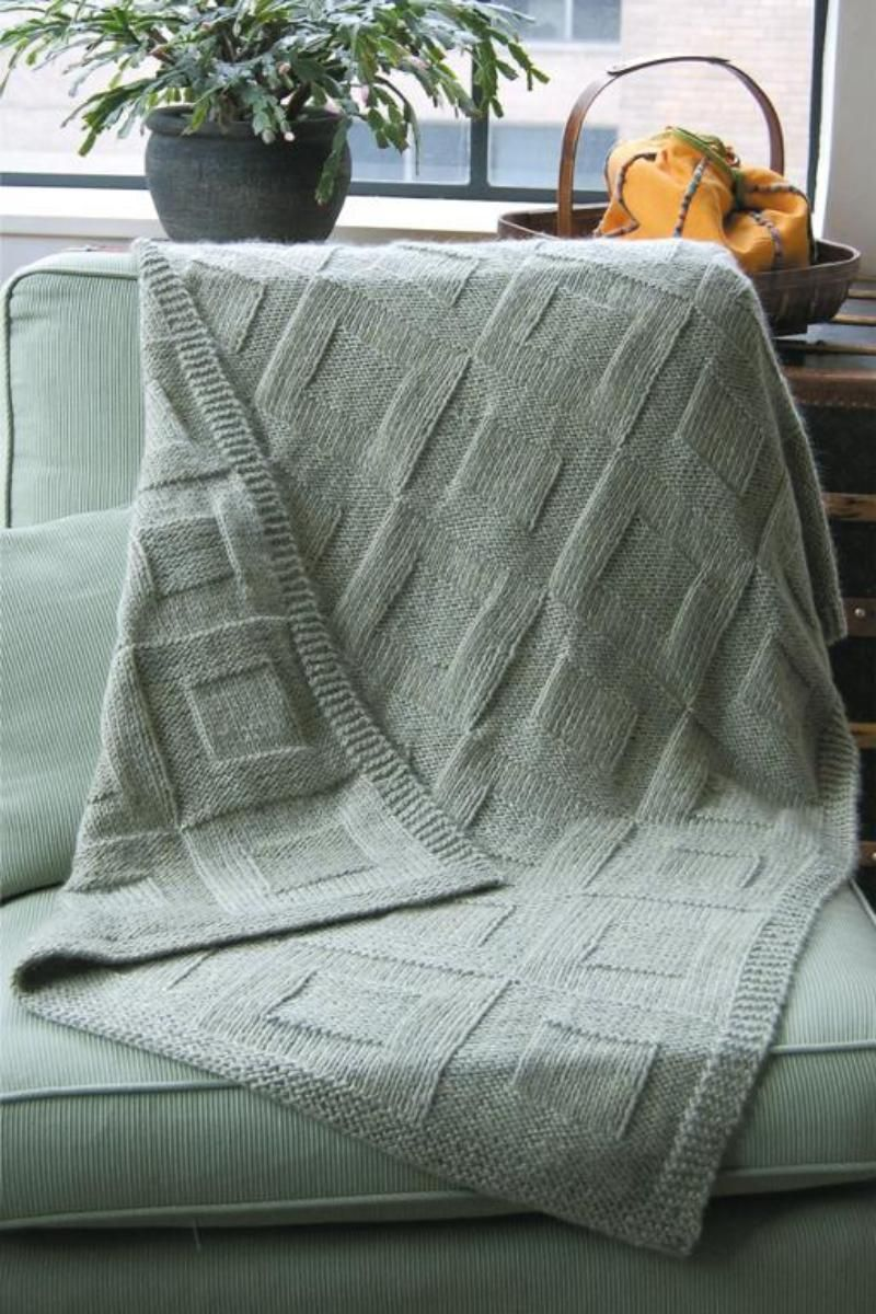 Reversible Afghan to Knit K3.3