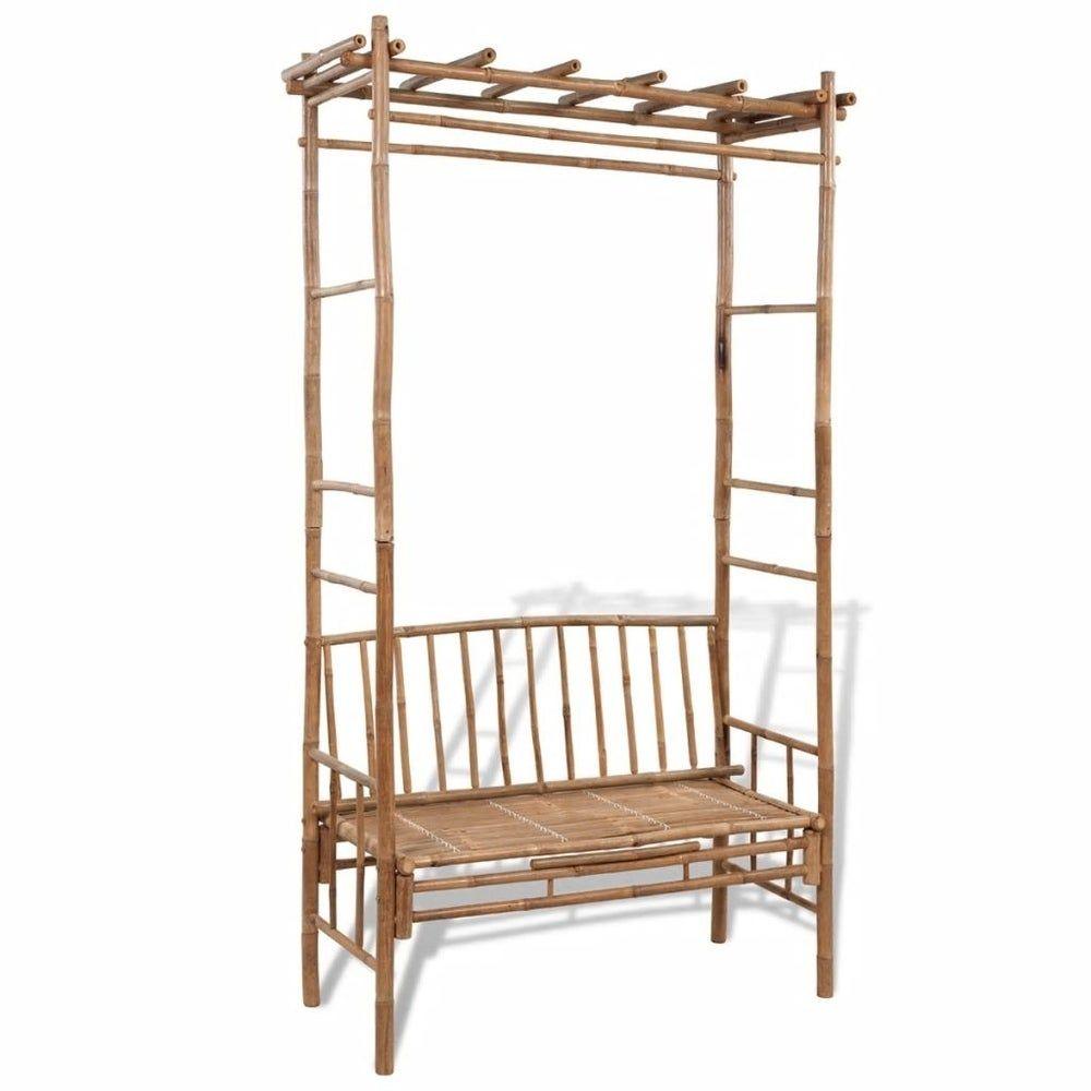 Photo of Garden Bench with Pergola 51.2″ Bamboo, Brown, LivEditor