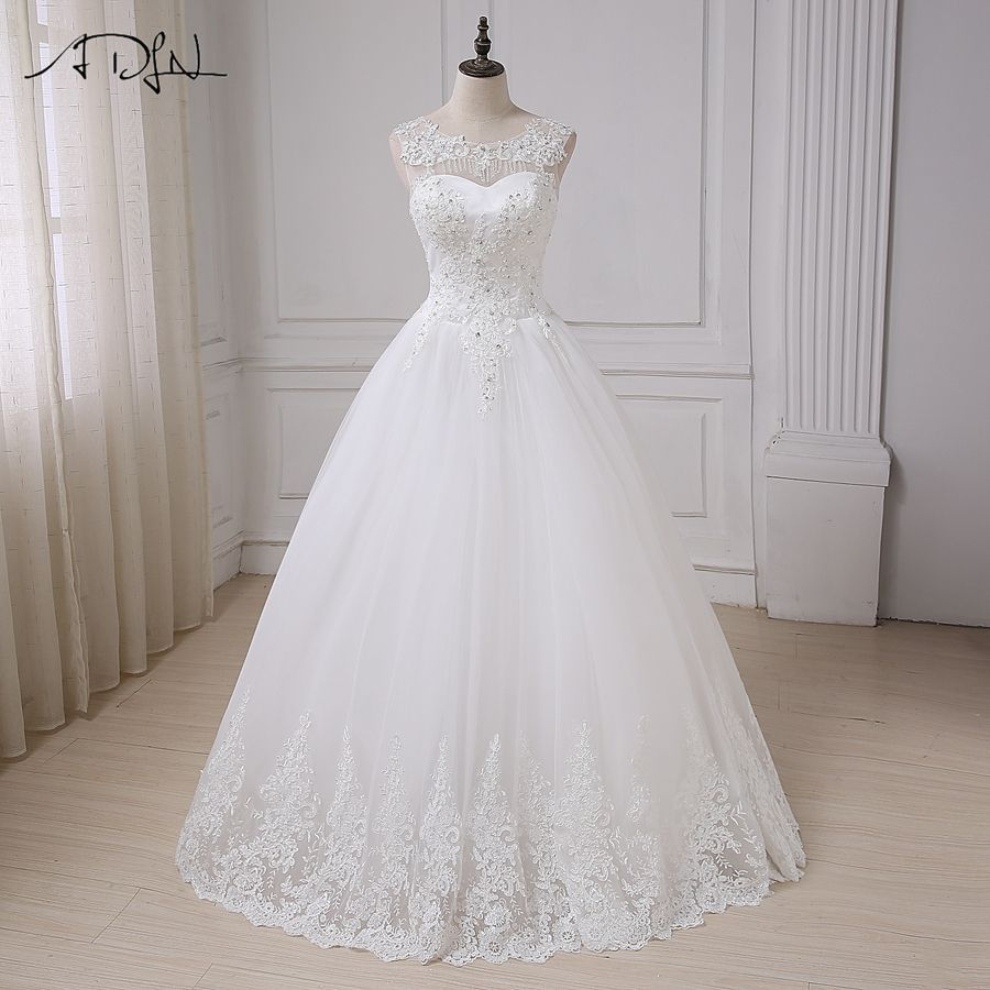 Vintage cap sleeve sequins applique laceup back wedding dress my
