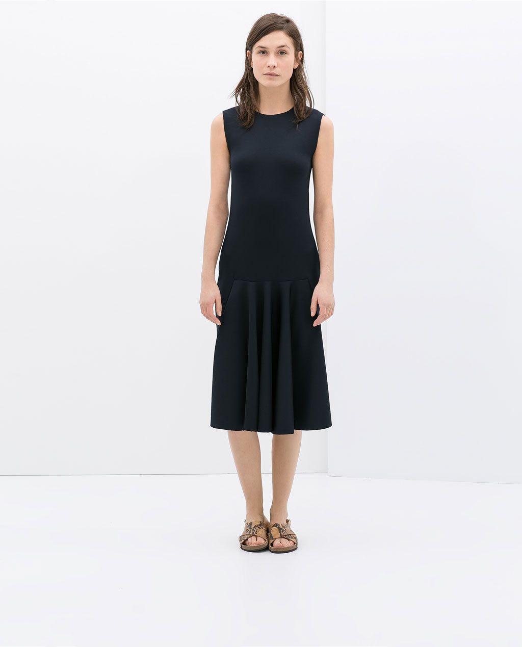 Vestido azul marino zara