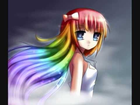 Nightcore Colors Of The Rainbow Youtube Anime Hair Color