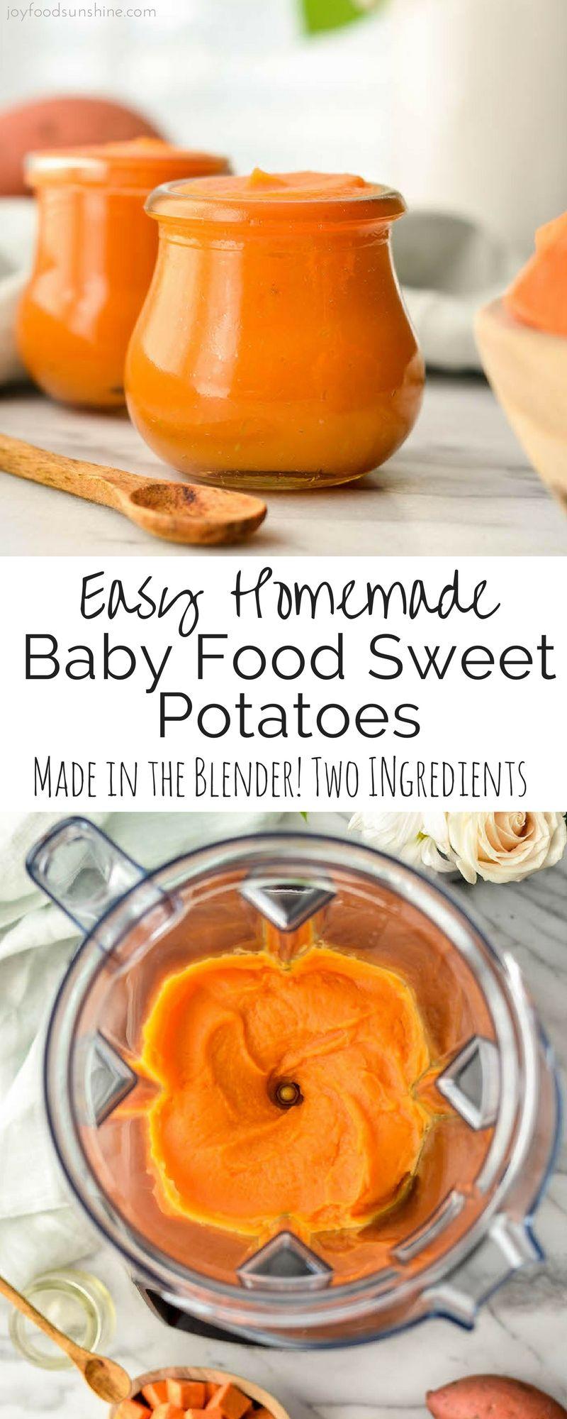 Easy Homemade Baby Food Sweet Potatoes! This recipe has ...