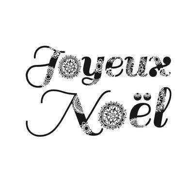 Joyeux no l tangle carte pinterest joyeux no l - Joyeux noel noir et blanc ...