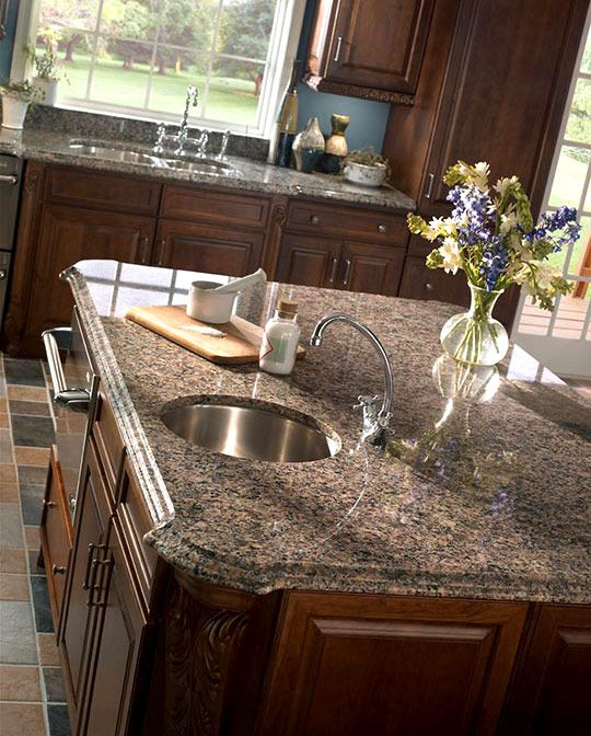 Sensa By Cosentino In Tuscany Brown Tuscany Brown Is One Of Most Popular Colors Offered In The Sensa Granite By Updated Kitchen Brown Kitchens Kitchen Colors