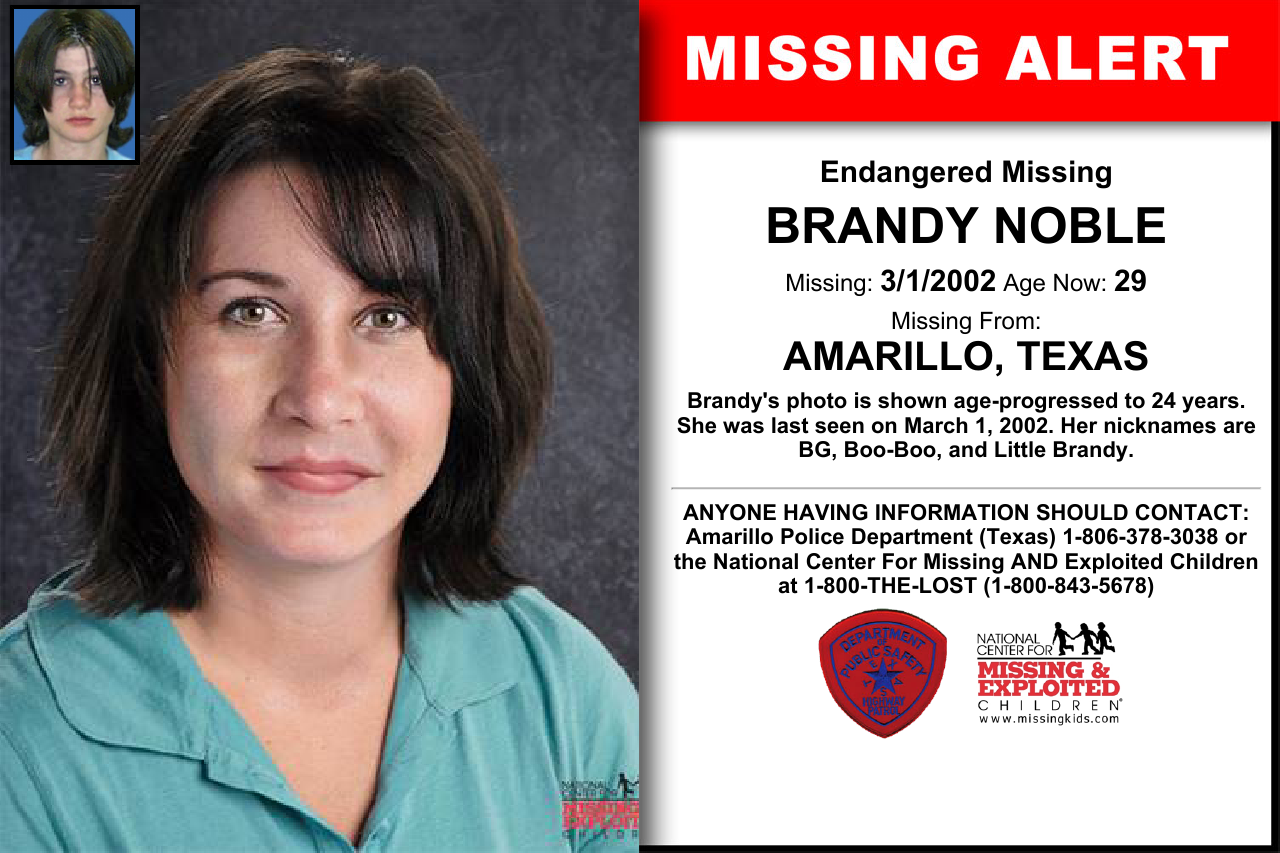 Brandy Noble Age Now 29 Missing 03 01 2002 Missing From