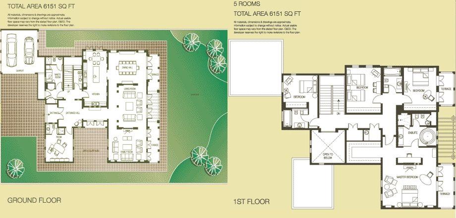 The springs the meadows dubai floor plans 4e 4m homes for Dubai house floor plans