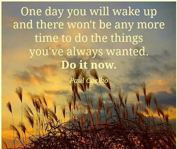 Don't wait!