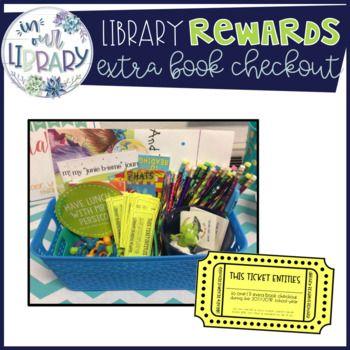 Library Rewards Extra Book Checkout Elementary Media Center Ideas