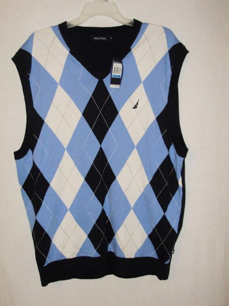 Checkered Sweater Vest Baggage Clothing