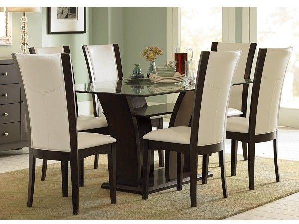 Elegant  And Comfortable Dining Room Tables And Chairs Idea With Glass Top Dining Tables Ideas