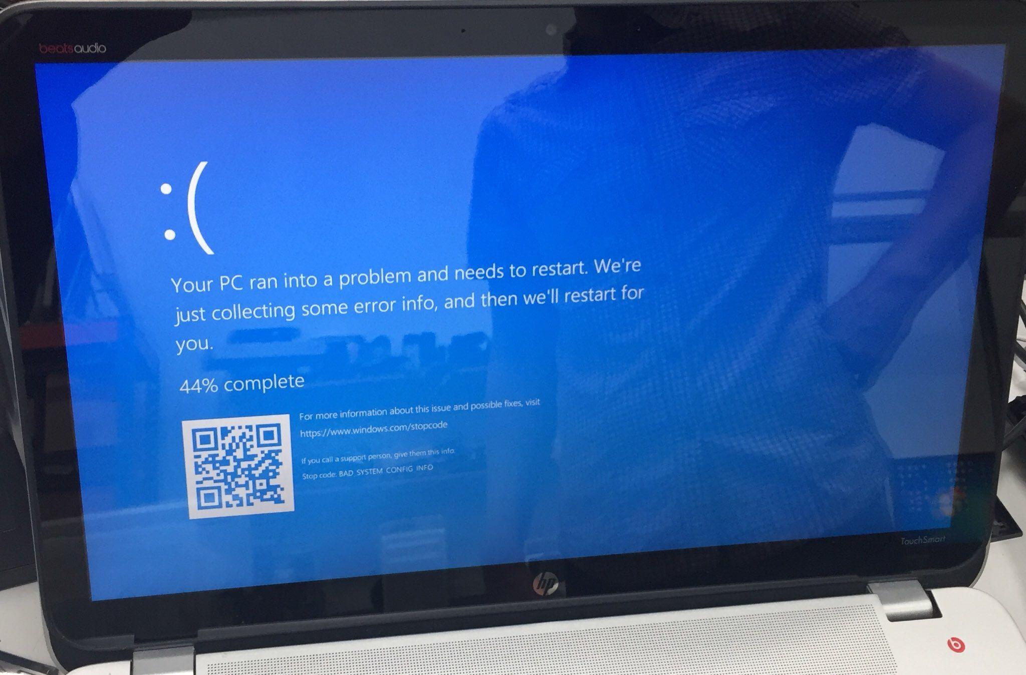 Hp Envy Touchsmart 15 Notebook Pc Error Screen Notebook Pc Envy Hard Disk