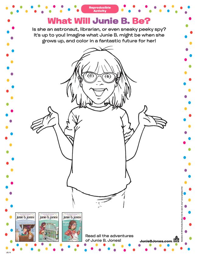 Junie B Jones Printables And Activities Brightly In 2020 Junie B Jones Activities Fun Printables