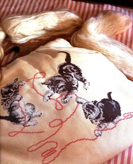 Gallery.ru / Фото #1 - gatitos con hilo - Chispitas