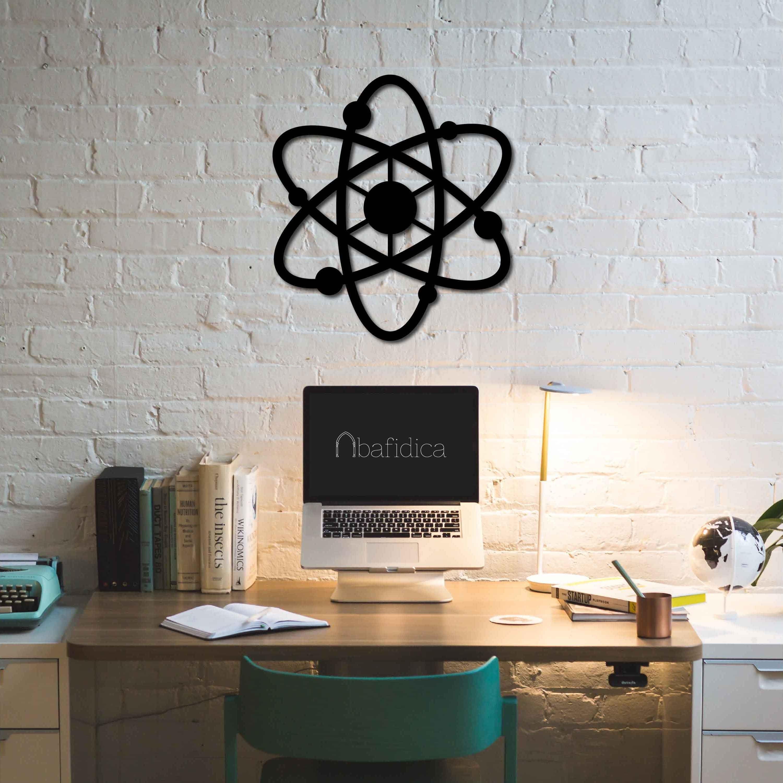 Metal Wall Art Atom Ii Interior Decoration Home Decor Etsy Dekor