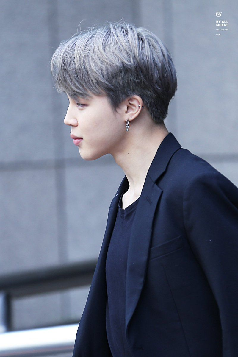 Boy hairstyle logo by all means  do not edit do not crop logo  park ji min 지민