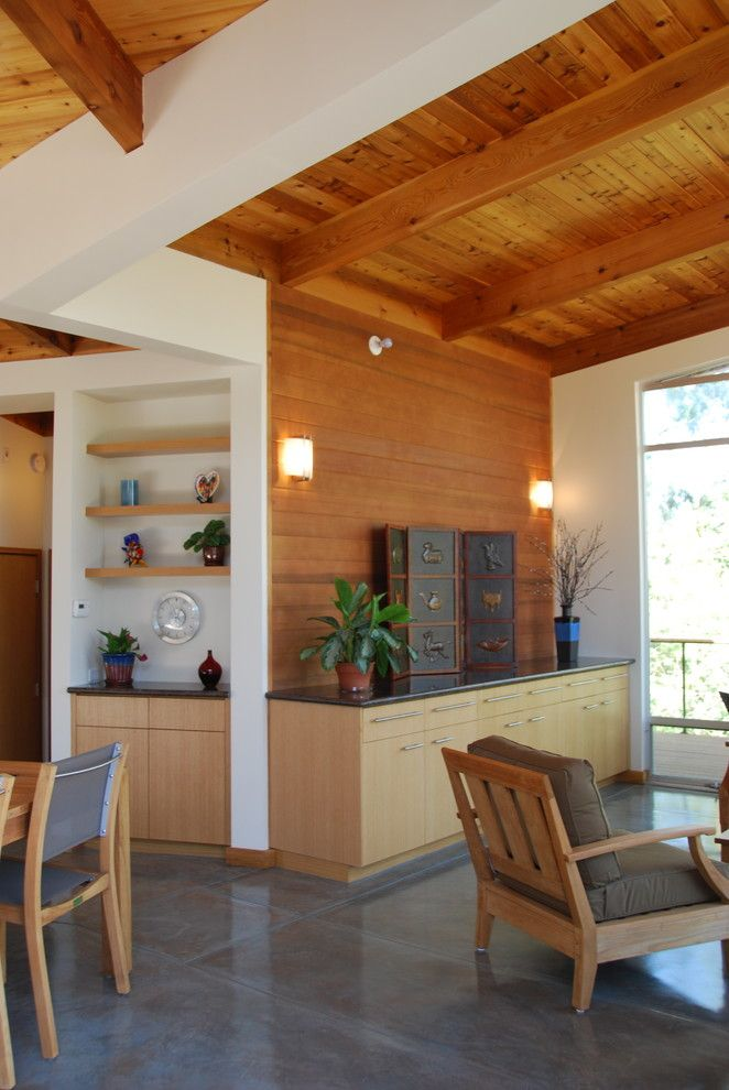 knotty-pine-walls-Kitchen-Eclectic-with-none ...