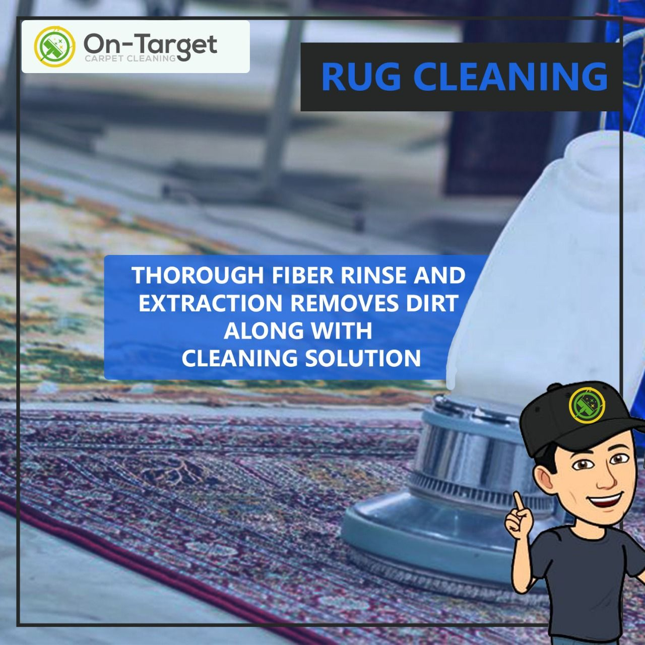 Let On-Target Carpet Cleaning Repair & Restore Any Area Or Oriental Rug That You May Own !! Our Promise - To Deliver Quality Rug Cleaning.. Get Your Area Rugs Cleaned Safely & Effectively.  #rugcleaningservice #rugcleaners #bestrugcleaners #rugcleaningScottsdale