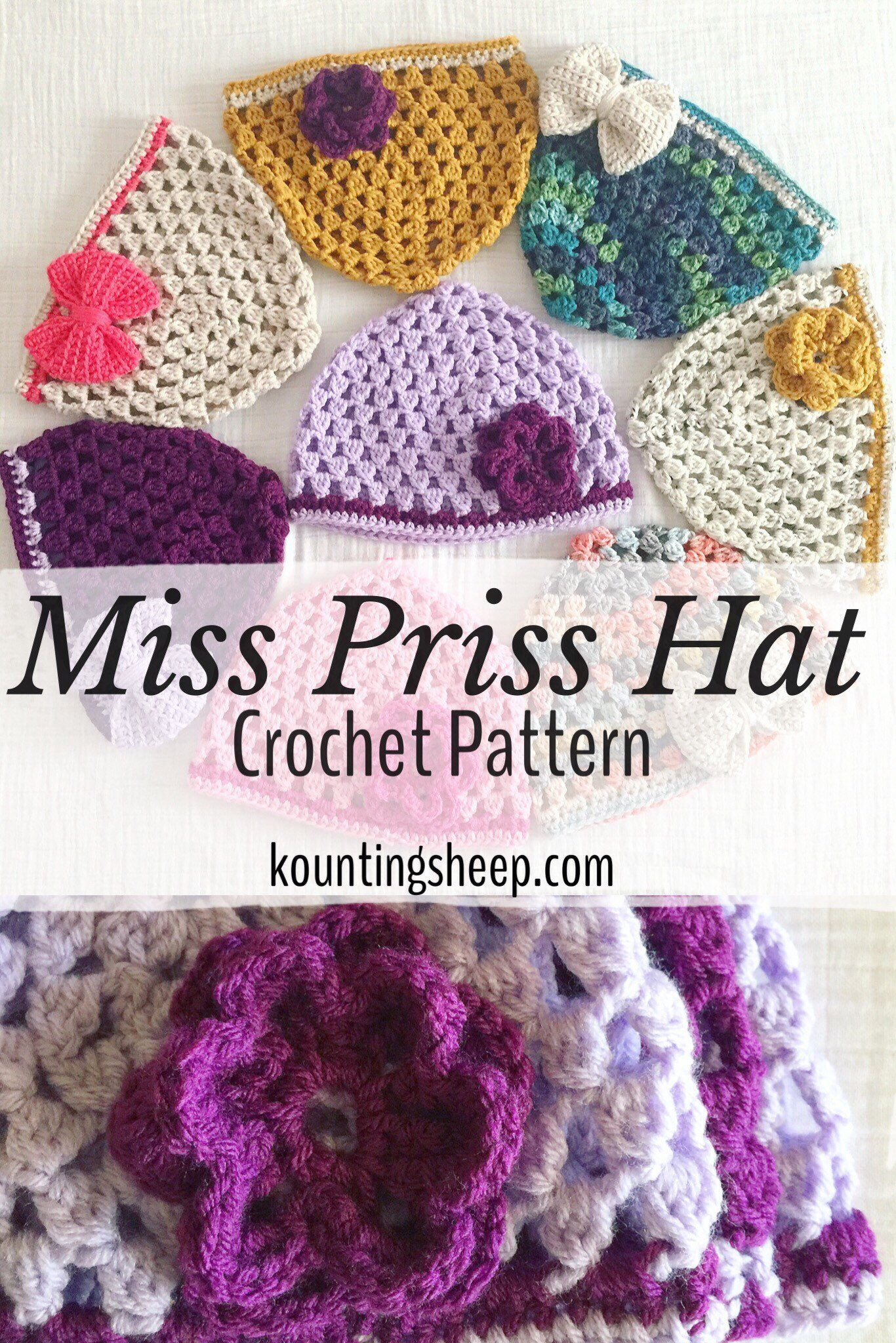Miss Priss Hat Pattern Pdf Digital Download Only Crochet Half Double Diagram And On Pinterest In Toddler Child Adult Sizes From My Etsy Shop