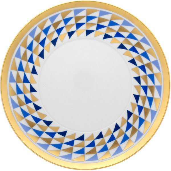 Nery Graphic Triangle Dinner Plate - Blue u0026 Gold  sc 1 st  Pinterest & Nery Graphic Triangle Dinner Plate - Blue u0026 Gold | S E T T I N G S ...