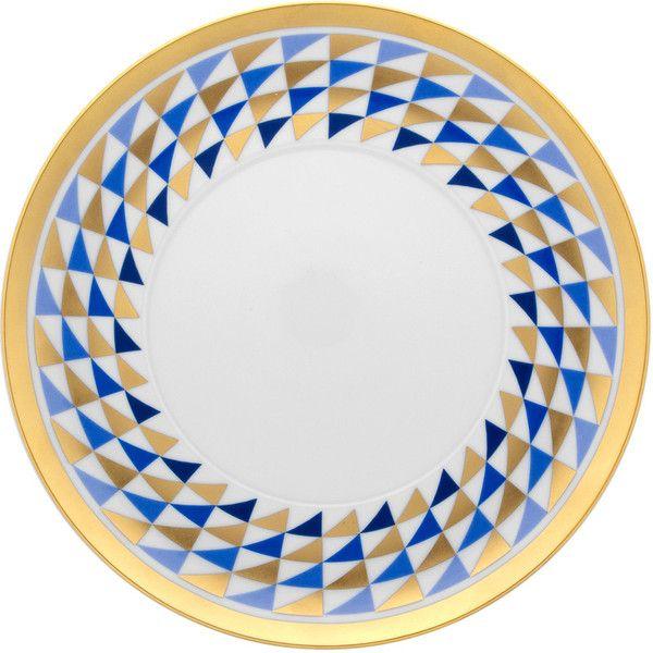 Nery Graphic Triangle Dinner Plate - Blue u0026 Gold  sc 1 st  Pinterest & Nery Graphic Triangle Dinner Plate - Blue u0026 Gold | S E T T I N G S ...
