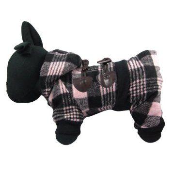Amazon.com: Alfie Couture Designer Pet Apparel - Hayley Flannel Coat Jumper - Color: Pink, Size: S: Pet Supplies