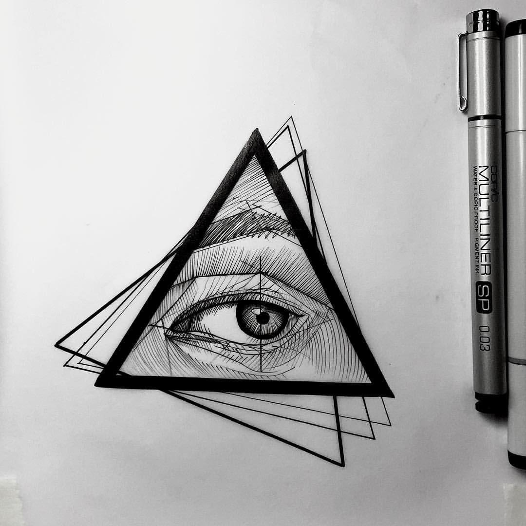 1 067 Vind Ik Leuks 21 Reacties Frank Carrilho Frankcarrilho Op Instagram All Seeing Eye Sketch F Geometric Eye Tattoo Eye Tattoo All Seeing Eye Tattoo
