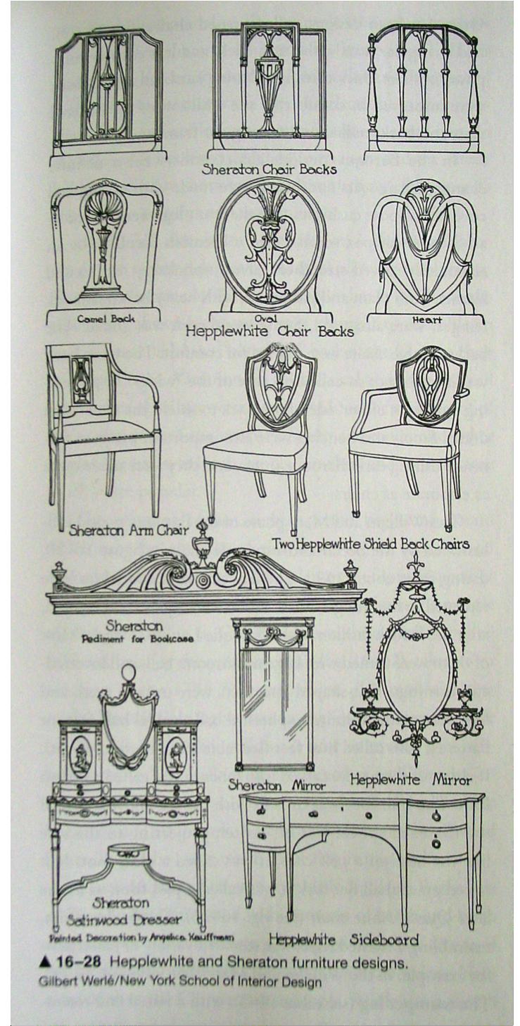 Hepplewhite And Sheraton Furniture Examples Of Georgian Style Furniture Styles Antique Furniture Georgian Interiors