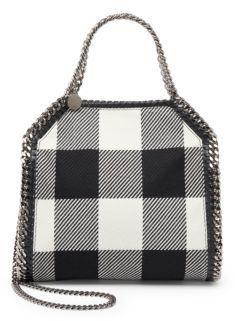 Stella McCartney Falabella Mini Plaid Virgin Wool Shoulder Bag