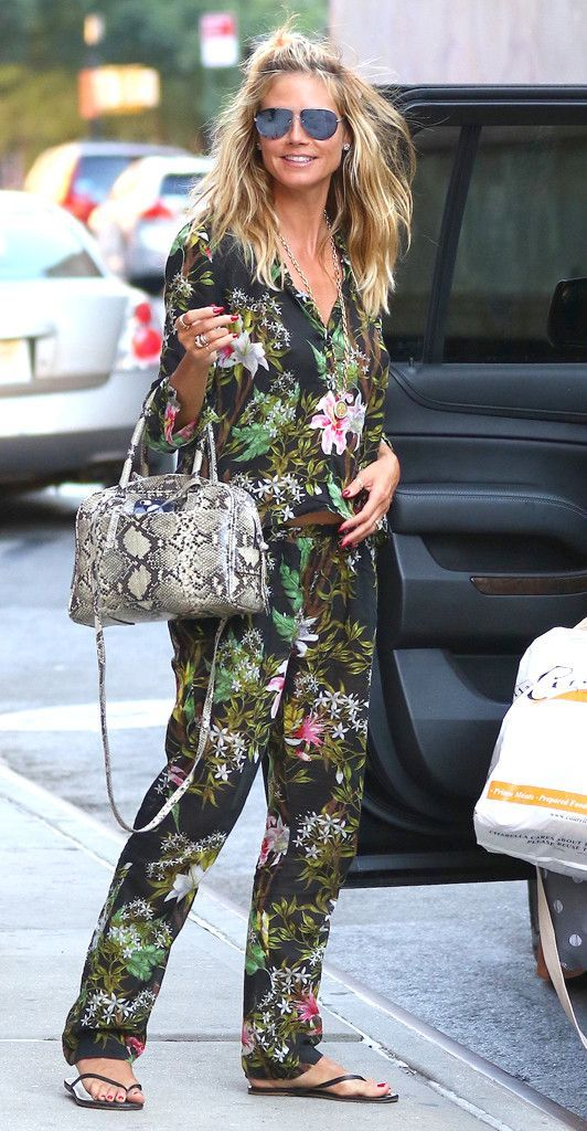 10 Best Outfits from Heidi Klum: #10. Fully Floral