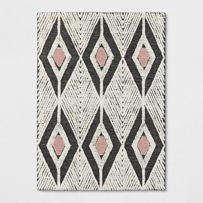Light Off White Diamond Tufted Area Rug 5 X7 Project 62