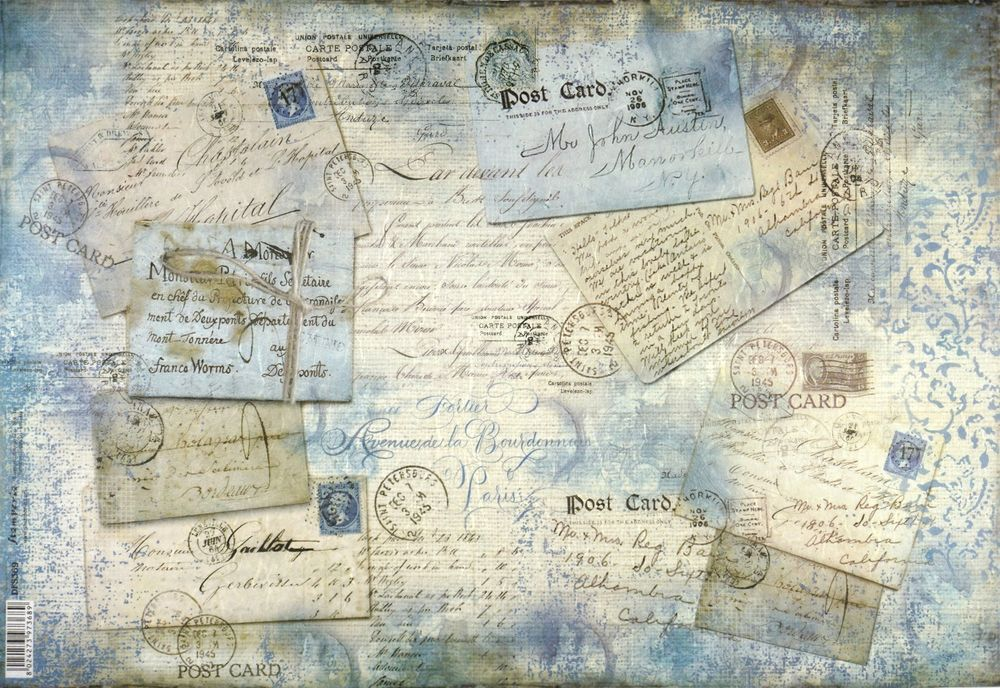 Rice Paper for Decoupage Decopatch Scrapbook Craft Sheet A//3 Vintage Old Map 2