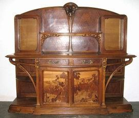 mobilier art nouveau on pinterest art nouveau bronze. Black Bedroom Furniture Sets. Home Design Ideas