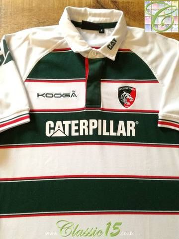 df582d66980 Official Kooga Leicester Tigers home rugby shirt from the 2015/2016 season.