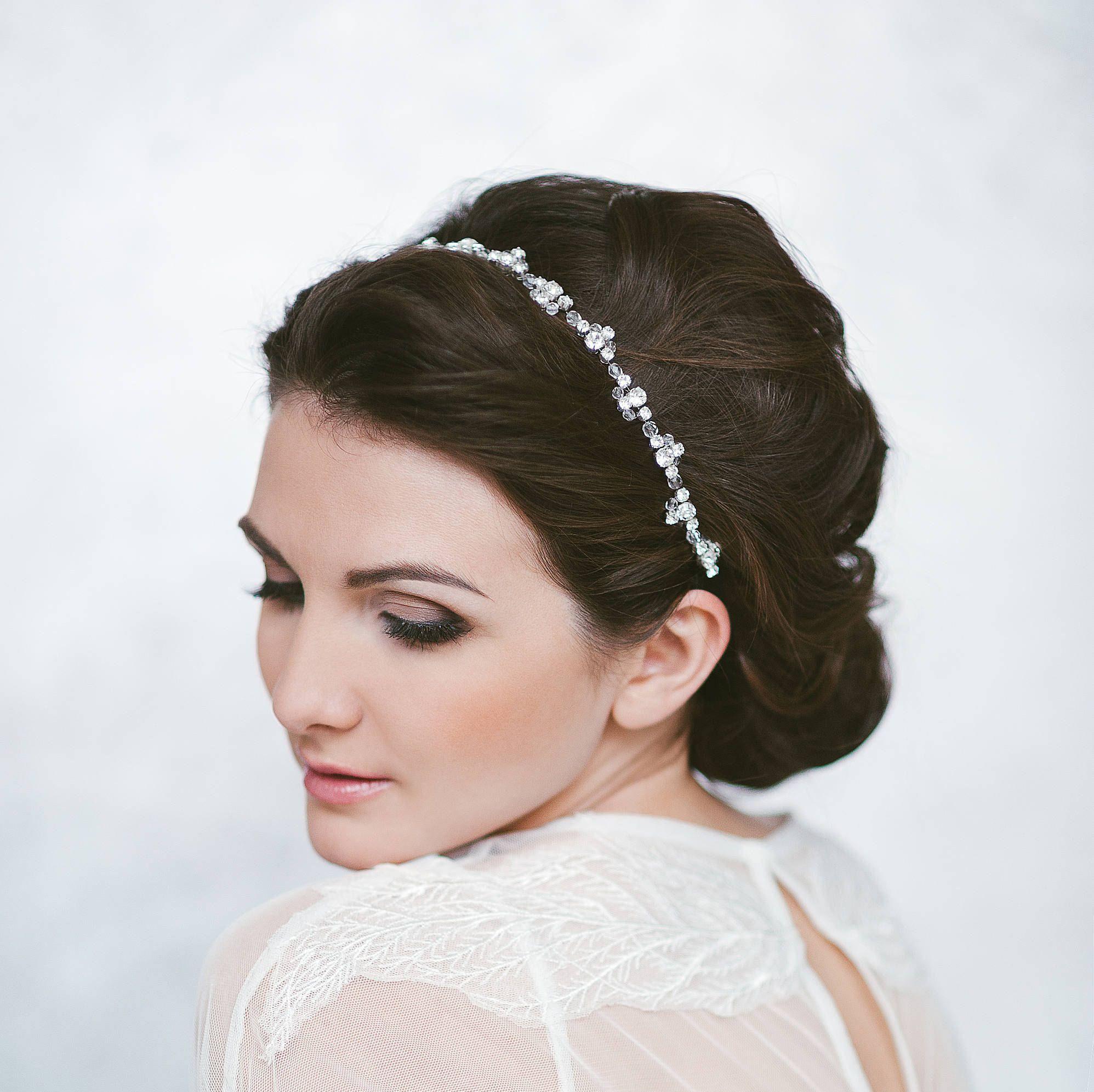 Classic Wedding Headband Bridal Headpiece Bride Hair Piece Etsy Flower Hair Accessories Wedding Wedding Hair Accessories Flower Girl Headpiece