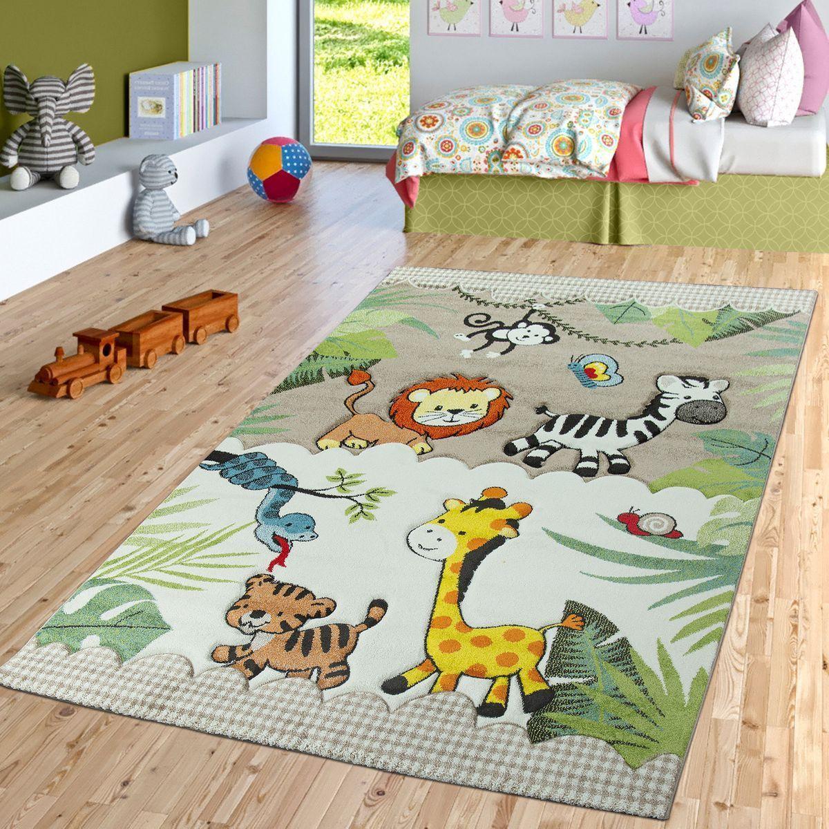 Kinderzimmer Teppich Dschungel Beige Creme Teppichmax Teppich Kinderzimmer Kinderzimmer Teppich Madchen Kinderzimmer
