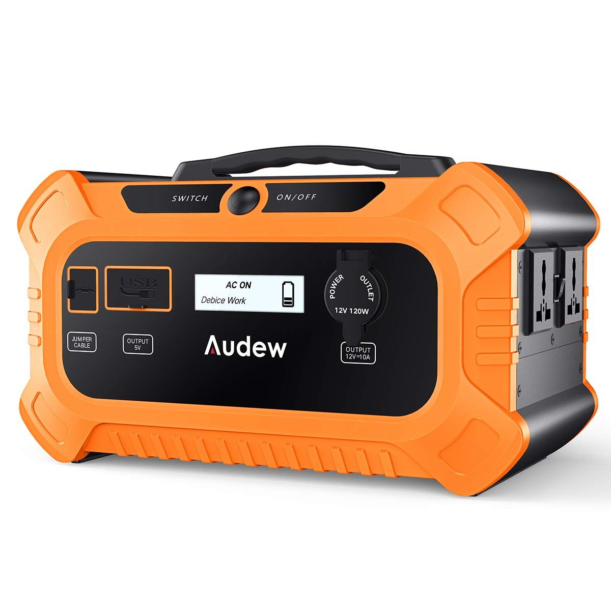 Audew Portable Power Station 500wh Solar Generator With Car Jumper Phosphate Battery Power Supply Solar Generator Solar Power Diy Solar Power Panels