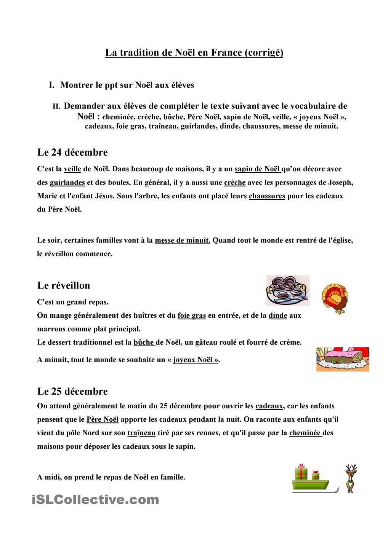Texte à Trous Sur Noel Clases De Francés Uñas Francesas Y