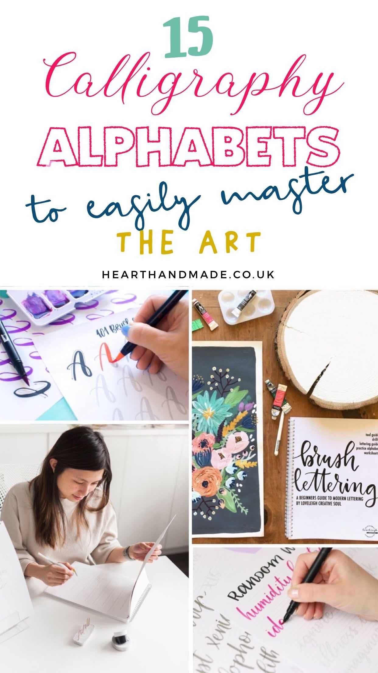 15 Of The Best Calligraphy Alphabets To Easily Master In