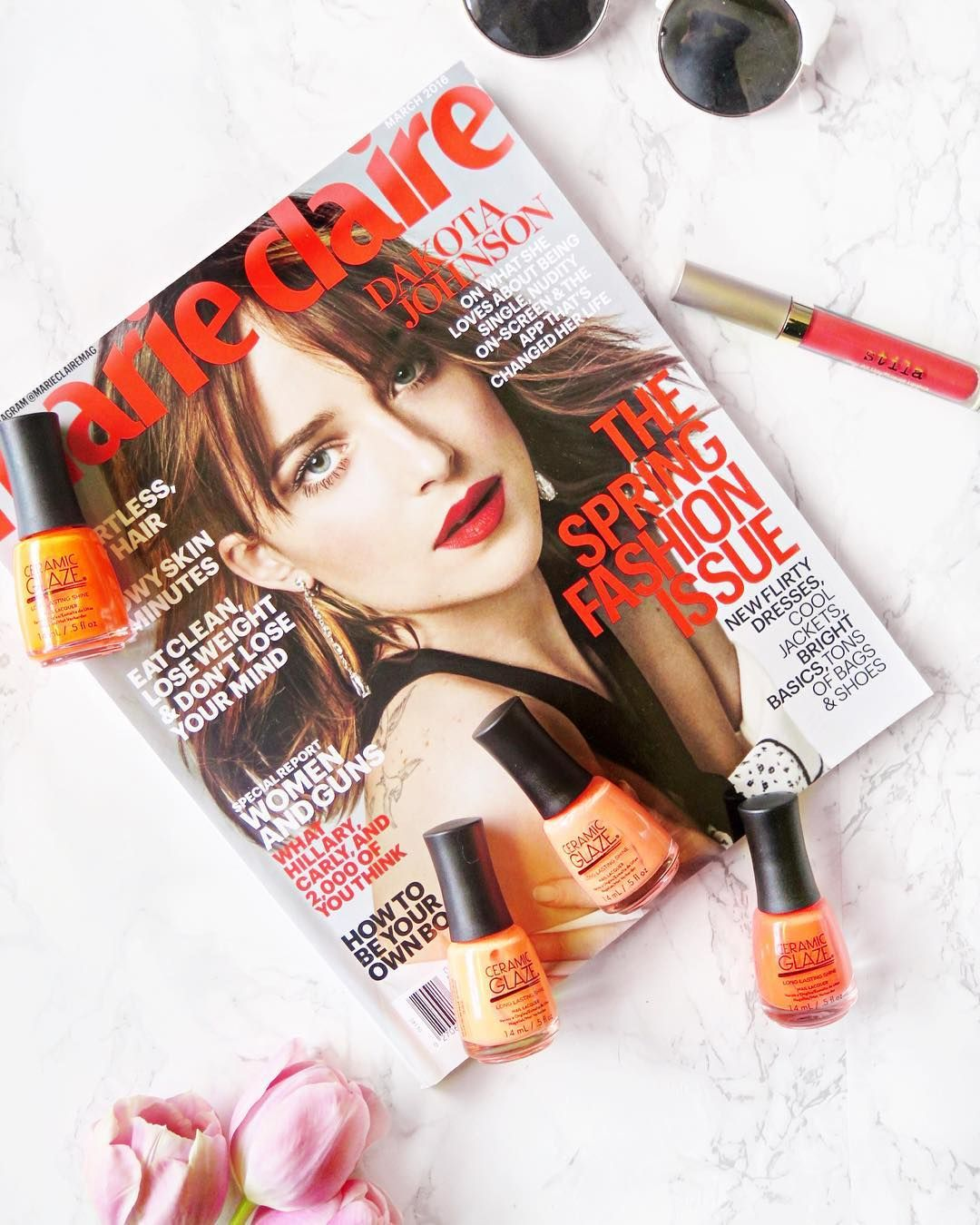 I have been completely obsessed with orange lately! From my nails to my lips I have been loving a bold pop of neon orange and today I am sharing my favourite orange nail polishes and lipsticks from @ceramicglaze & @stilagirlcanada - http://bit.ly/neonspring  by labellesirene_