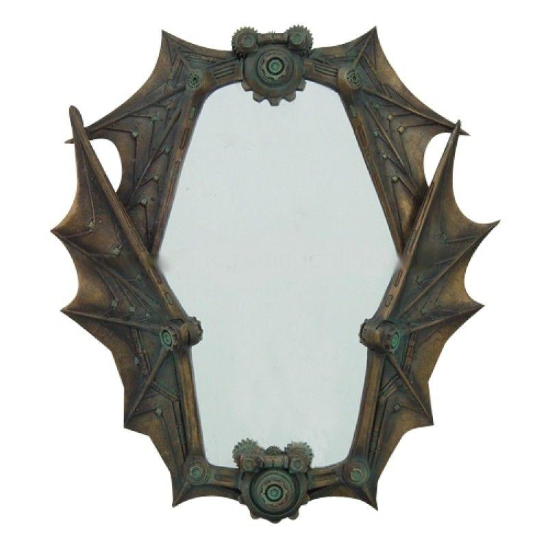 Steampunk Mechanical Wings Wall Mirror