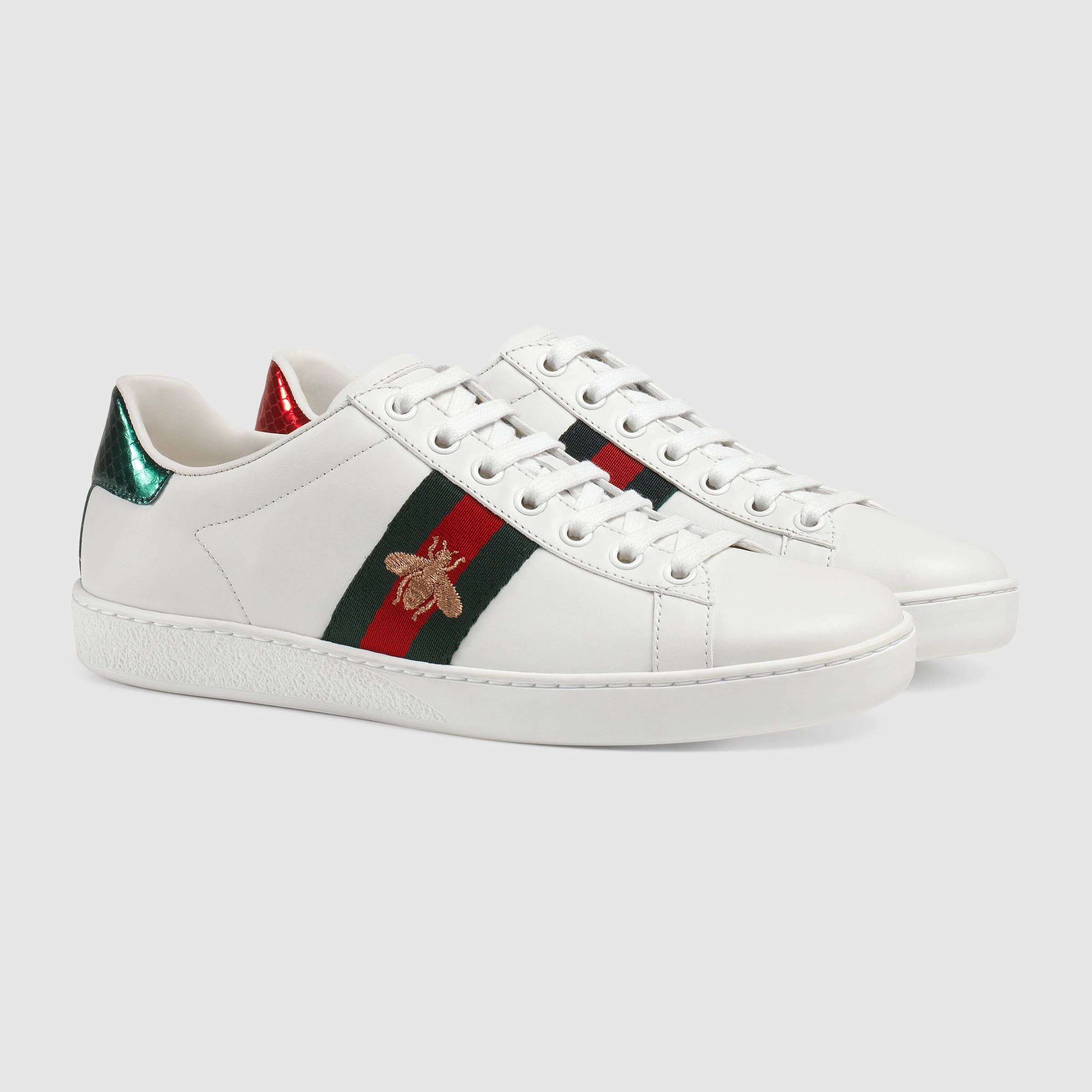 Gucci Ace Embroidered Sneaker Detail 2 Gucci Ace Sneakers Gucci Shoes Sneakers Sneakers